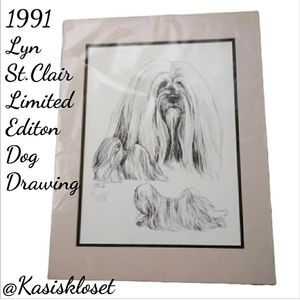 Vintage Lyn St.Clair 1991 Limit Edt #47 Drawing